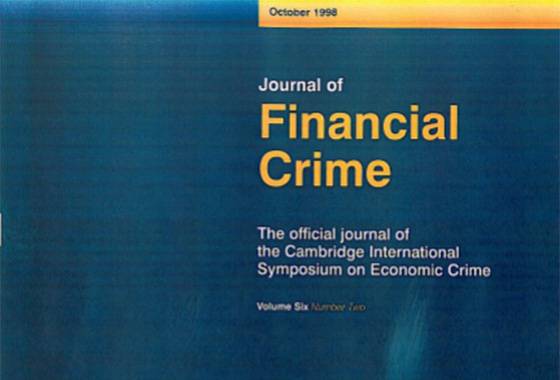 Carlo Zaccagnini, Italy: Comment on money laundering section of the italian penal code, Journal of Financial Crime, October 1998.